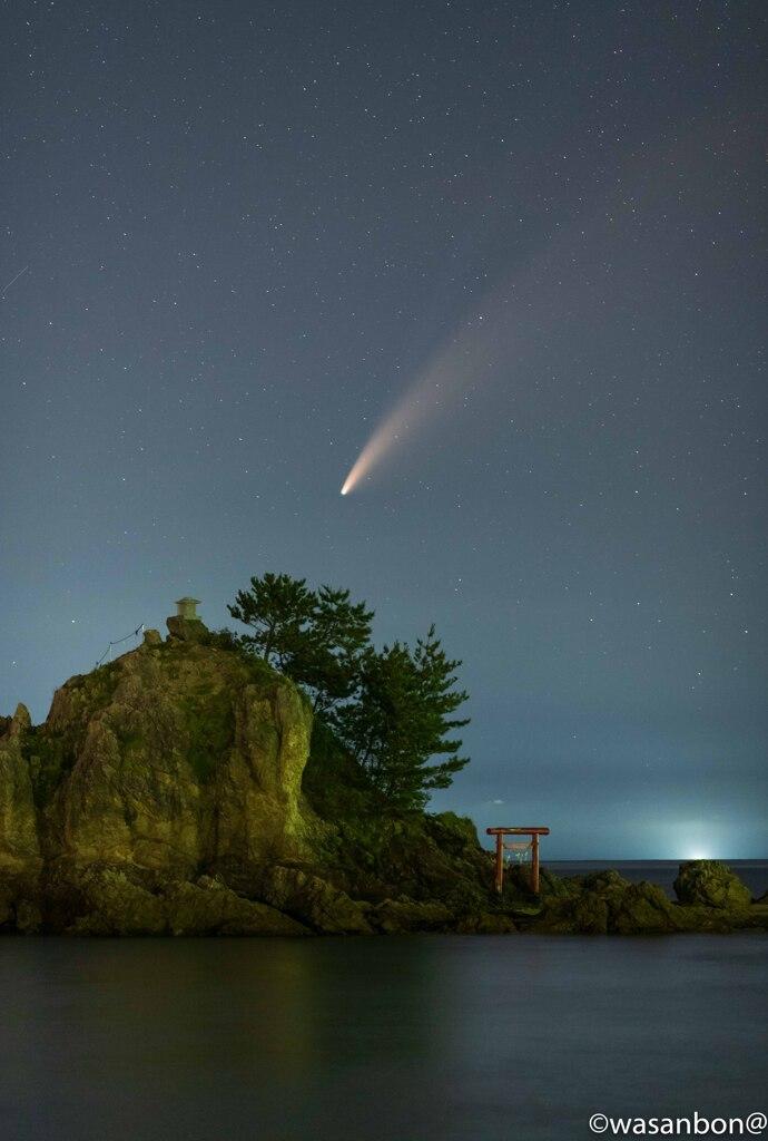 帚星と漁り火
