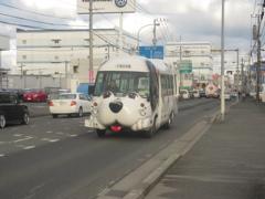 ワンちゃんの柄の幼稚園バス