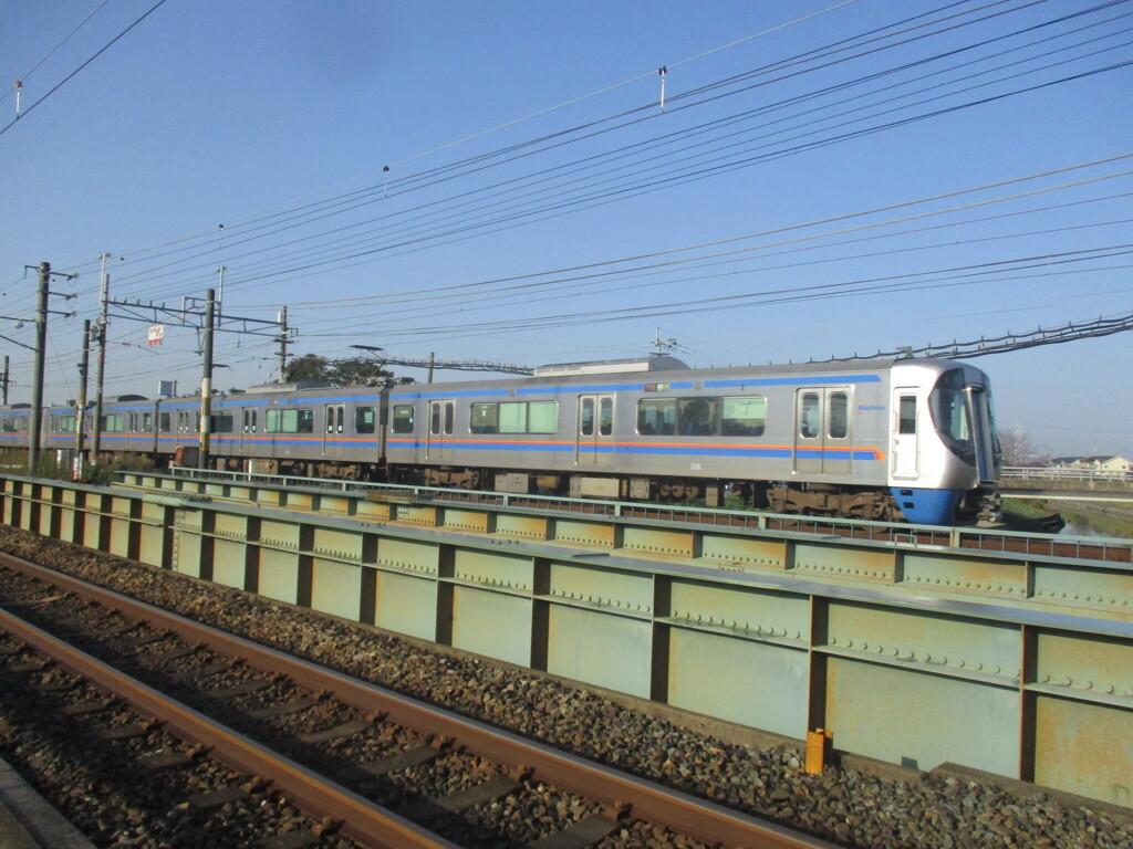 西鉄3000形の通過 大牟田~銀水にて