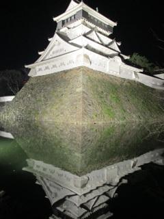小倉城の夜