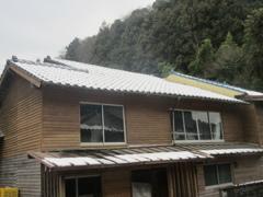 雪の積もった福岡県内①