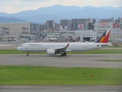 フィリピン航空 A321 福岡空港離陸