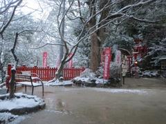 太宰府天開稲荷と雪 ⑦