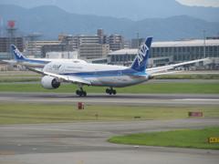 JAL  B787-8 福岡空港ランディング ②