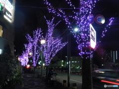 いまだに残るクリスマスのイルミネーション
