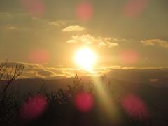 山頂からの夕日