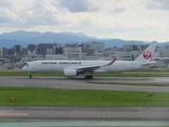 JAL  A350 福岡空港出発 ⑤