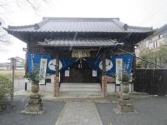 坂本八幡宮と雪 ②