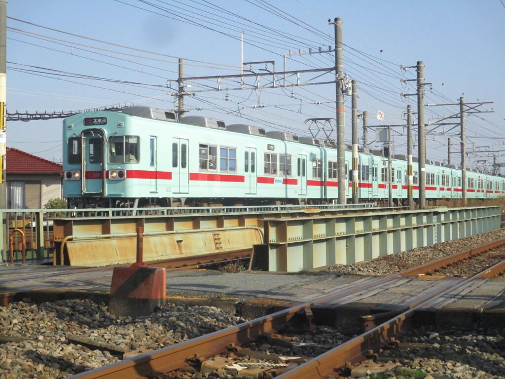 西鉄5000形の通過 大牟田~銀水にて