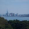 能古島から眺める福岡タワー方面
