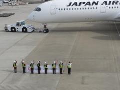 JAL  A350 福岡空港出発 ②