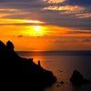 高島岬から見た夕焼け