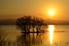 湖北夕景~日没の頃~
