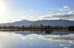 秋の日の木浜内湖
