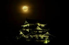 月と彦根城 ~十六夜~