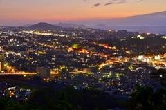彦根の街夜景