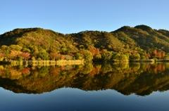 秋色の鏡面