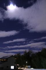 雪と満月の夜