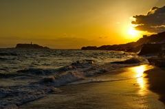 七里ヶ浜の夕陽