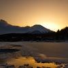 山中湖の夕暮れ
