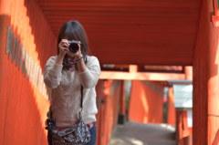 素敵なカメラ女子、津和野を撮る
