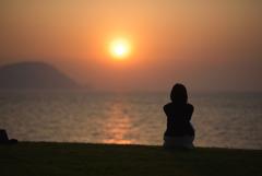 いつまでも眺めたくなる夕日