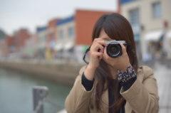 素敵なカメラ女子(門司港でレトロ)
