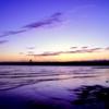 日没後のビーチ
