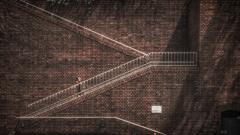 煉瓦の階段