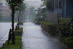 散歩の途中でゲリラ豪雨