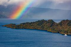 大きな虹現る