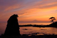 遠くの富士山