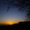 秋富士 夕陽