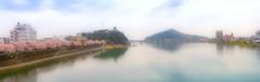 清流木曽川と犬山城