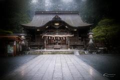 雨の小國神社 8