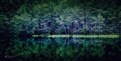 御射鹿池 in summer