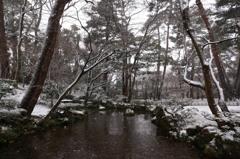 雪中の兼六園2