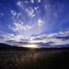ソバ畑の夕暮れ