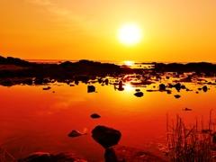 静寂の日本海・・・能登の夕景