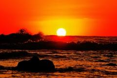 夕景日本海は能登