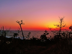 夕景能登は福浦海岸
