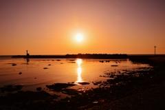 夕景能登 上野漁港