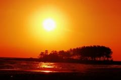 夕景 冬の日本海