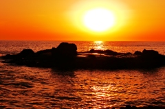 夕景日本海