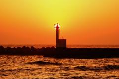 夕景 太陽の塔