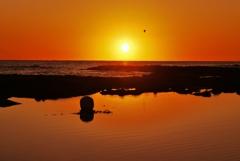 夕景日本海は能登百浦海岸