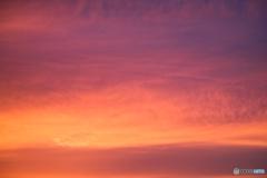 ひさしぶりの夕陽