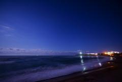 夜空と水平線