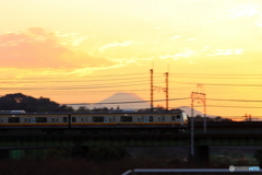 夕方の多摩川