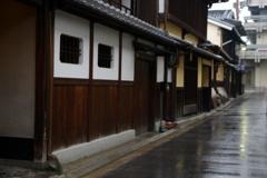 雨の奈良町